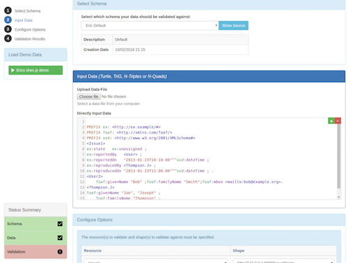 Validata screenshot